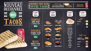 Intellope Magic Info Smart menu boards tacos